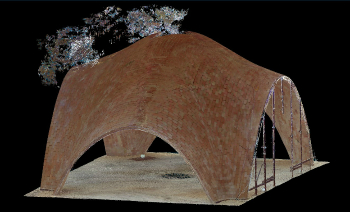 3D model of the full-scale droneport prototype as obtained from the laser scans (Venice, 2016)